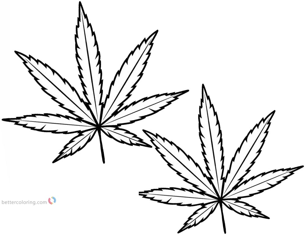 marijuana leaf coloring pages weed coloring pages cannabis leaf line art free coloring pages leaf marijuana