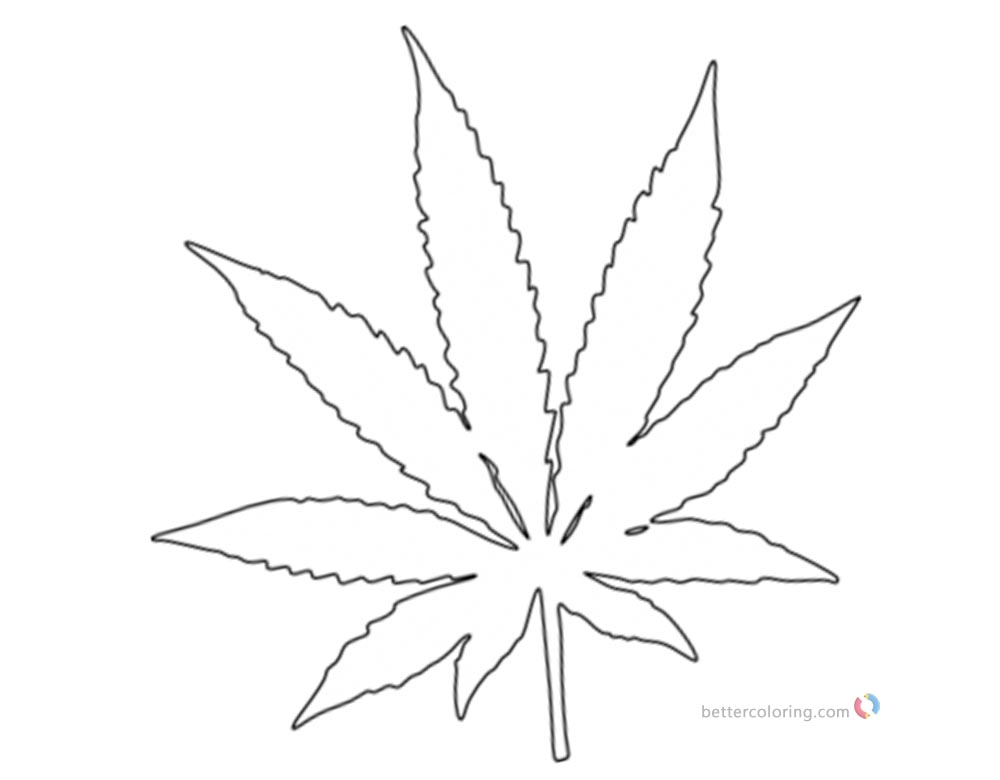 marijuana leaf coloring pages weed coloring pages pot leaf white and black free leaf coloring pages marijuana
