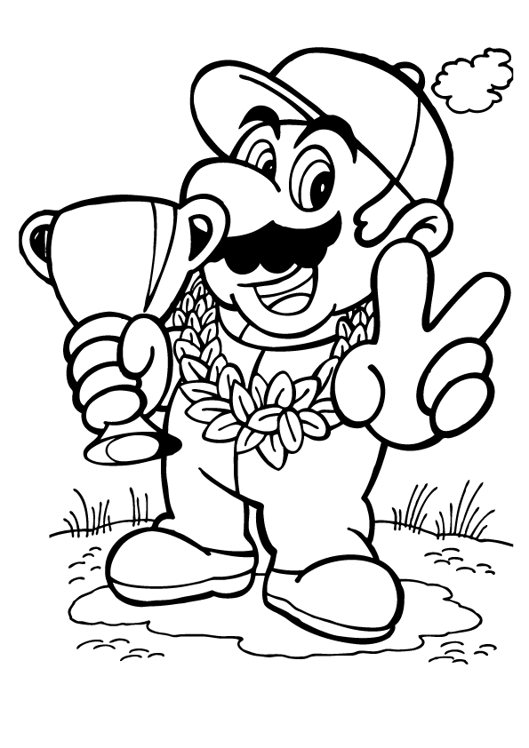 mario picture to color all mario characters coloring pages at getdrawings free color to mario picture