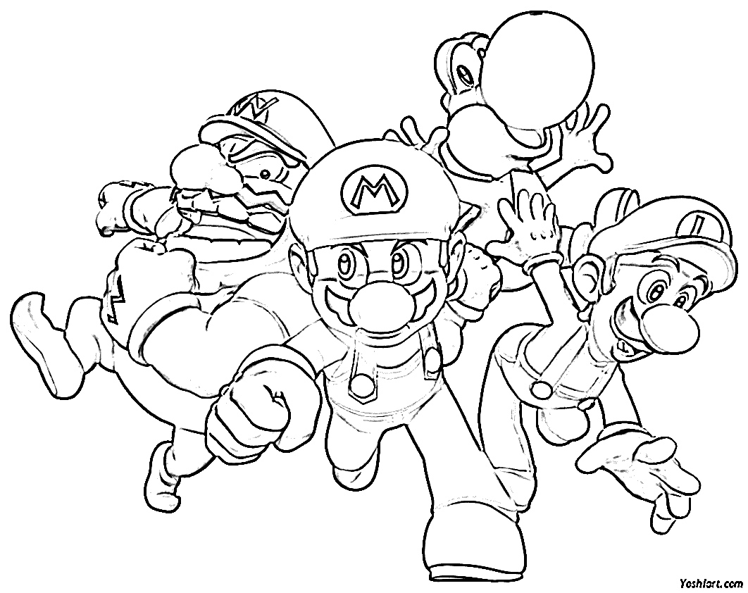 mario picture to color free printable mario brothers coloring pages for kids to picture mario color
