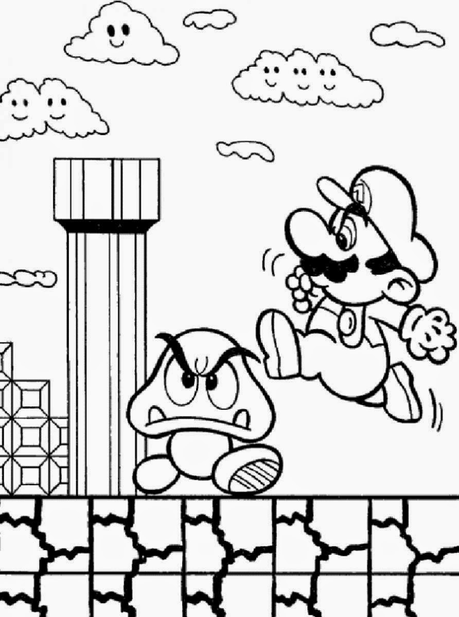 mario picture to color mario coloring pages black and white super mario picture mario to color