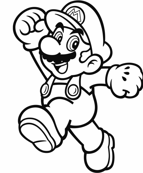 mario picture to color mario coloring pages to print free large images mario color to picture