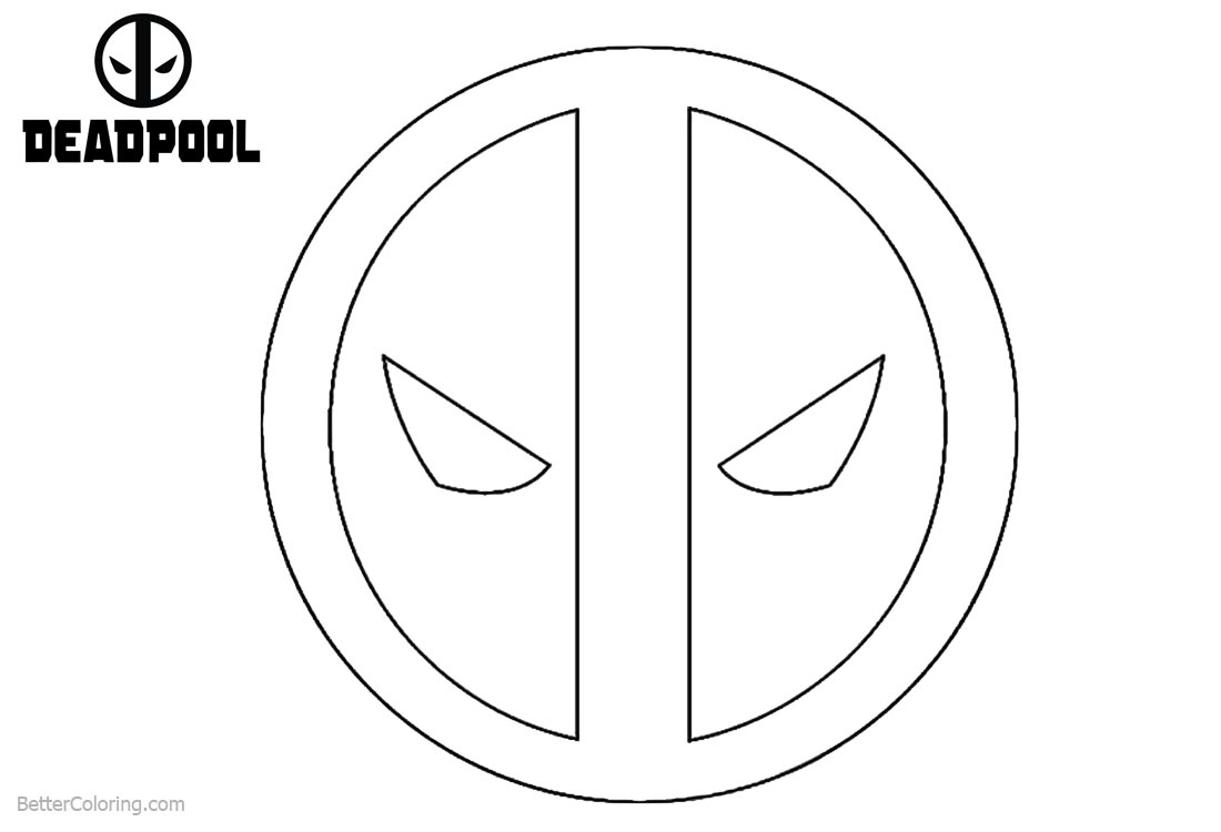 marvel logo coloring deadpool coloring pages logo free printable coloring pages marvel logo coloring
