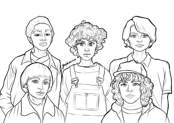 max stranger things coloring pages 10000 impresso stranger things 3 para colorir eleven coloring pages things stranger max