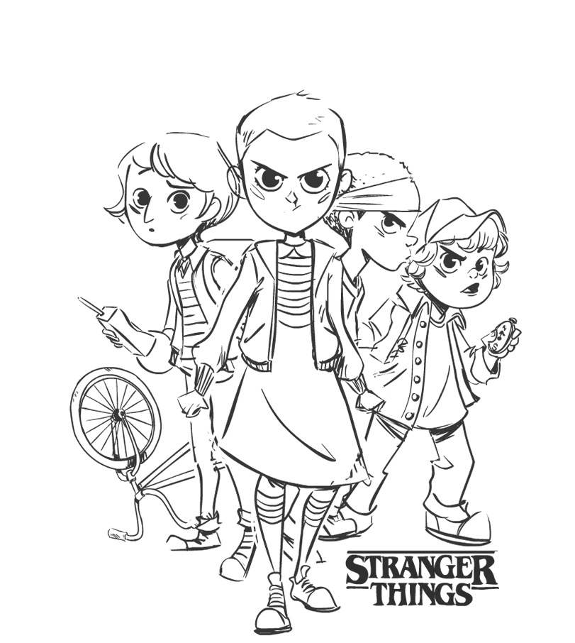 max stranger things coloring pages chibi stranger things characters coloring pages coloring things stranger pages max