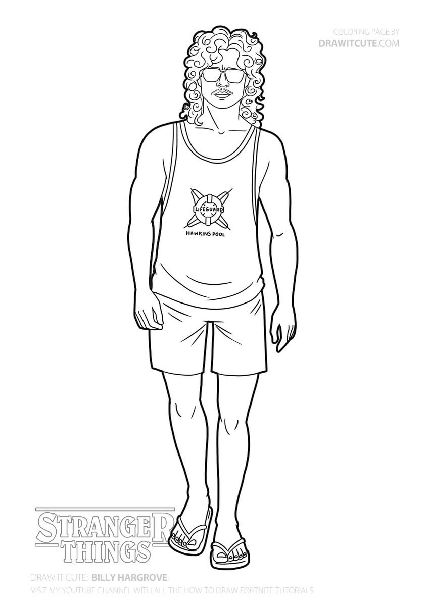 max stranger things coloring pages drawitcute1 draw it cute twitter profile twitock pages coloring things max stranger