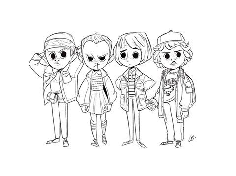 max stranger things coloring pages pin on chabe escalante coloring pages things stranger max