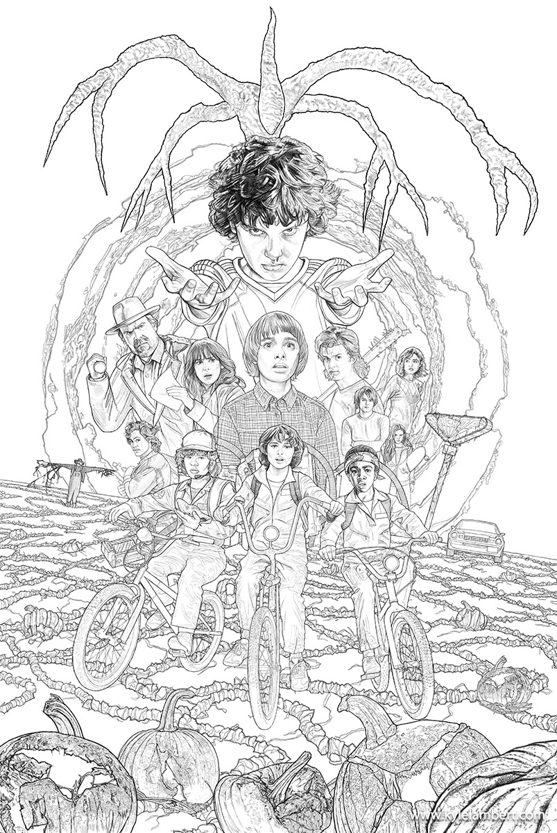 max stranger things coloring pages stranger things 2 official poster on behance max coloring stranger pages things