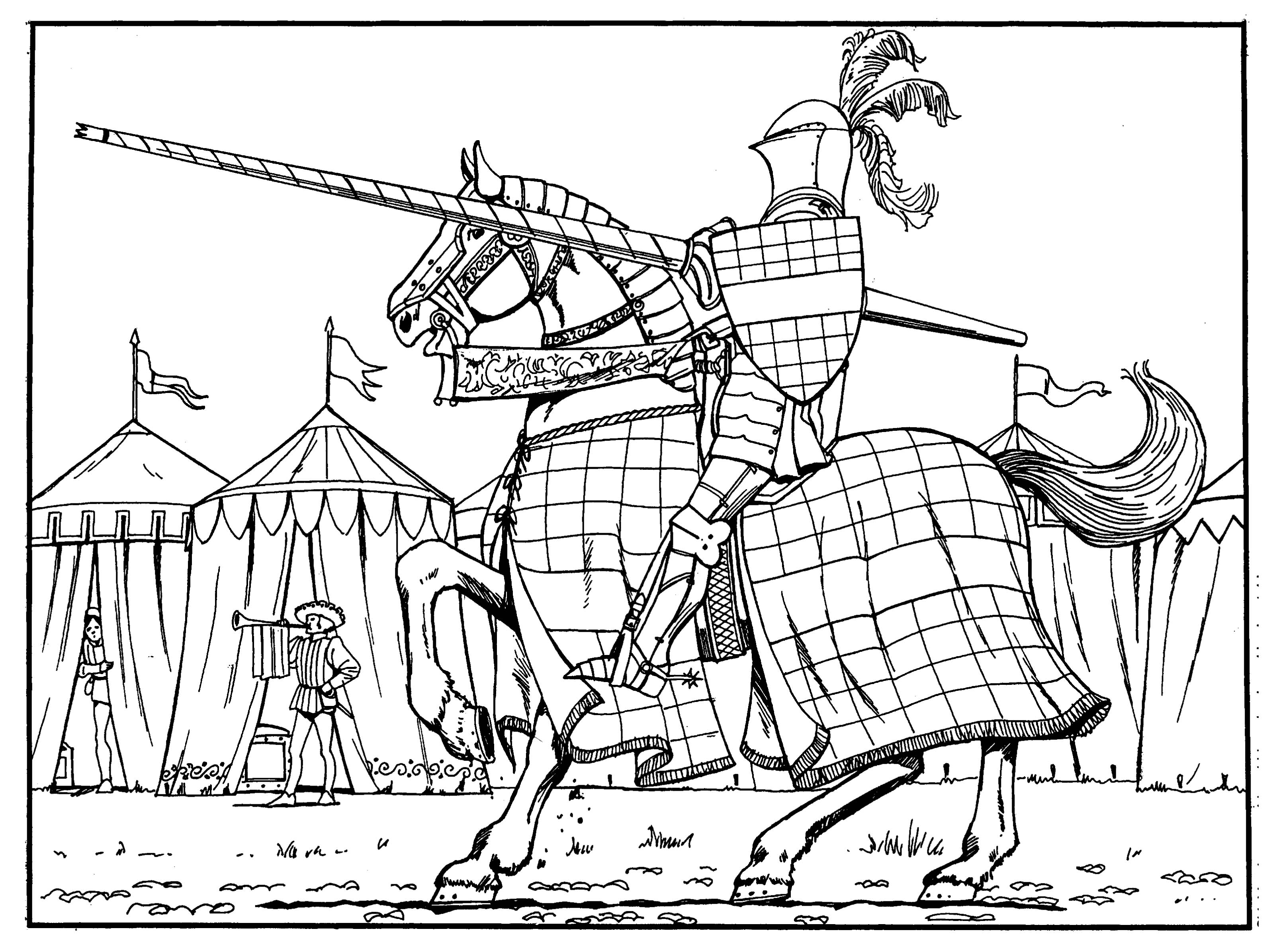 Medieval coloring sheets