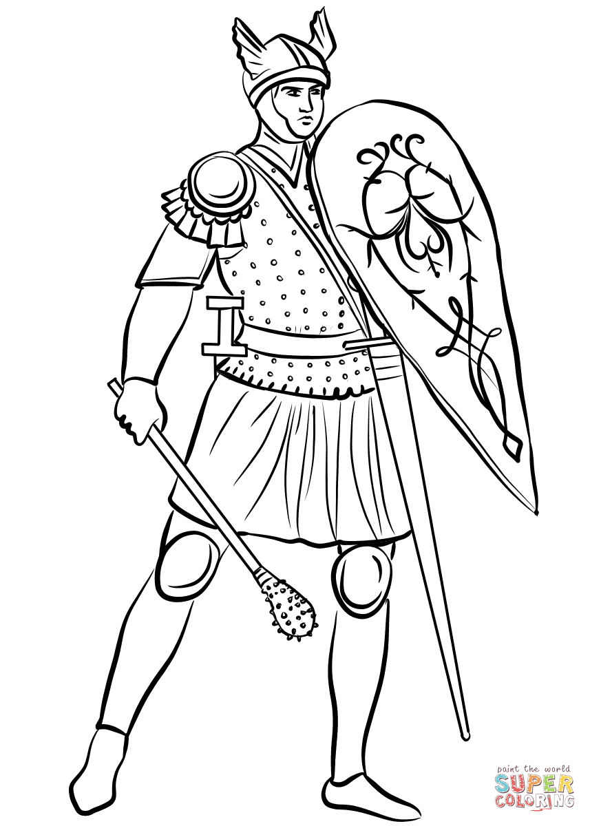 medieval coloring sheets medieval soldier with mace coloring page free printable coloring medieval sheets