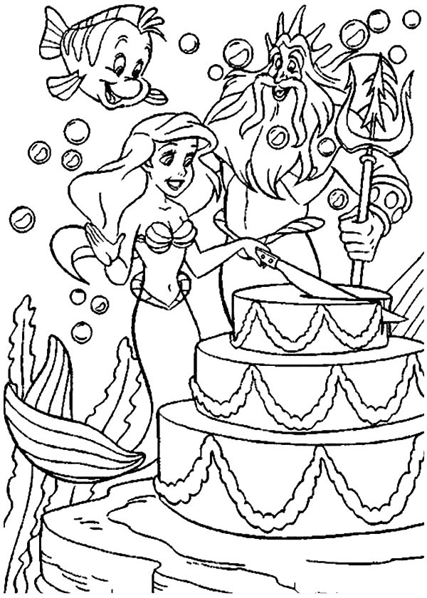 mermaid cake coloring page 10 best images about birthday coloring pages on pinterest cake page coloring mermaid