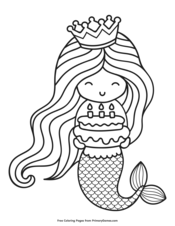mermaid cake coloring page cake topper for c39s cake cakes pinterest mermaid coloring mermaid page cake