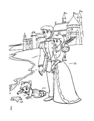 mermaid family coloring pages printable little mermaid coloring pages mermaid coloring family pages