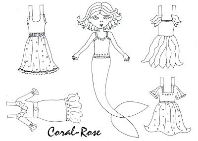 mermaid paper doll coloring pages 32 best mermaids paper dolls images paper dolls dolls paper doll pages mermaid coloring