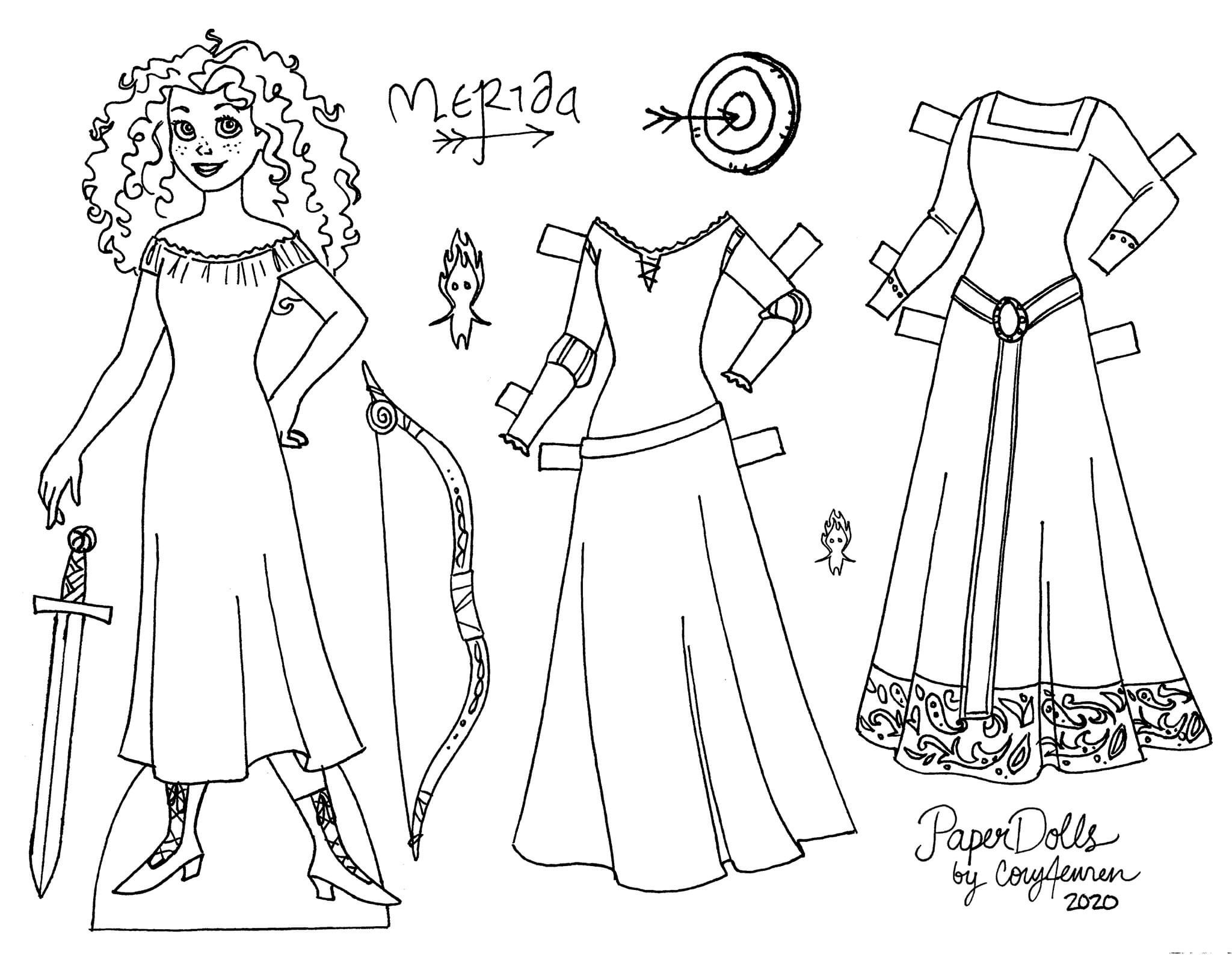 mermaid paper doll coloring pages click here for more marisole monday friends printable doll pages mermaid coloring paper