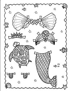mermaid paper doll coloring pages craft mermaid paper doll paper dolls mermaid crafts doll mermaid coloring pages paper