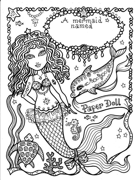 mermaid paper doll coloring pages miss missy paper dolls chicken of the sea paper pages doll coloring mermaid