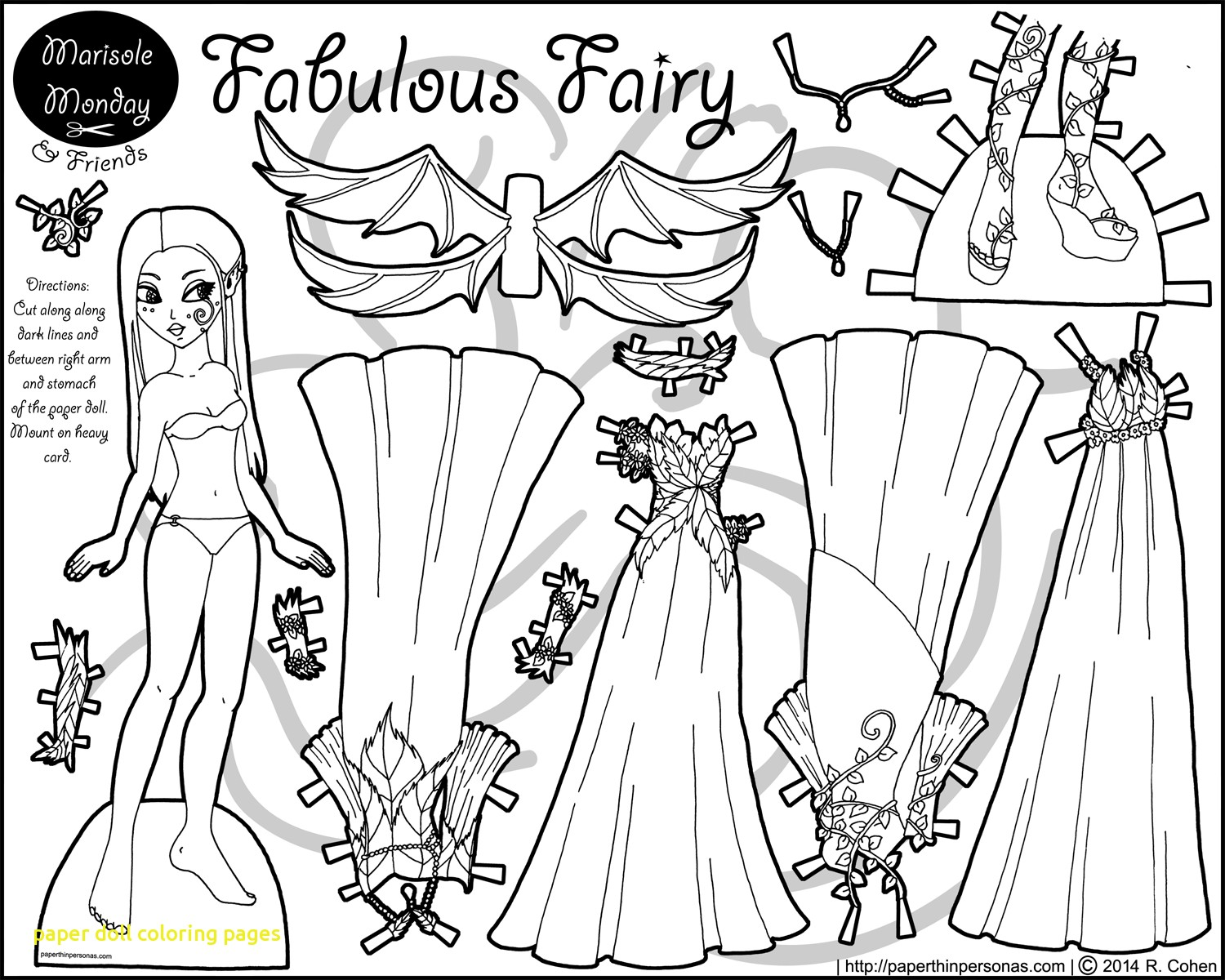 mermaid paper doll coloring pages paper doll instant download mermaid doll coloring pages paper mermaid
