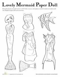 mermaid paper doll coloring pages pin by elizabeth crockett on paper dolls in 2020 disney pages mermaid doll paper coloring