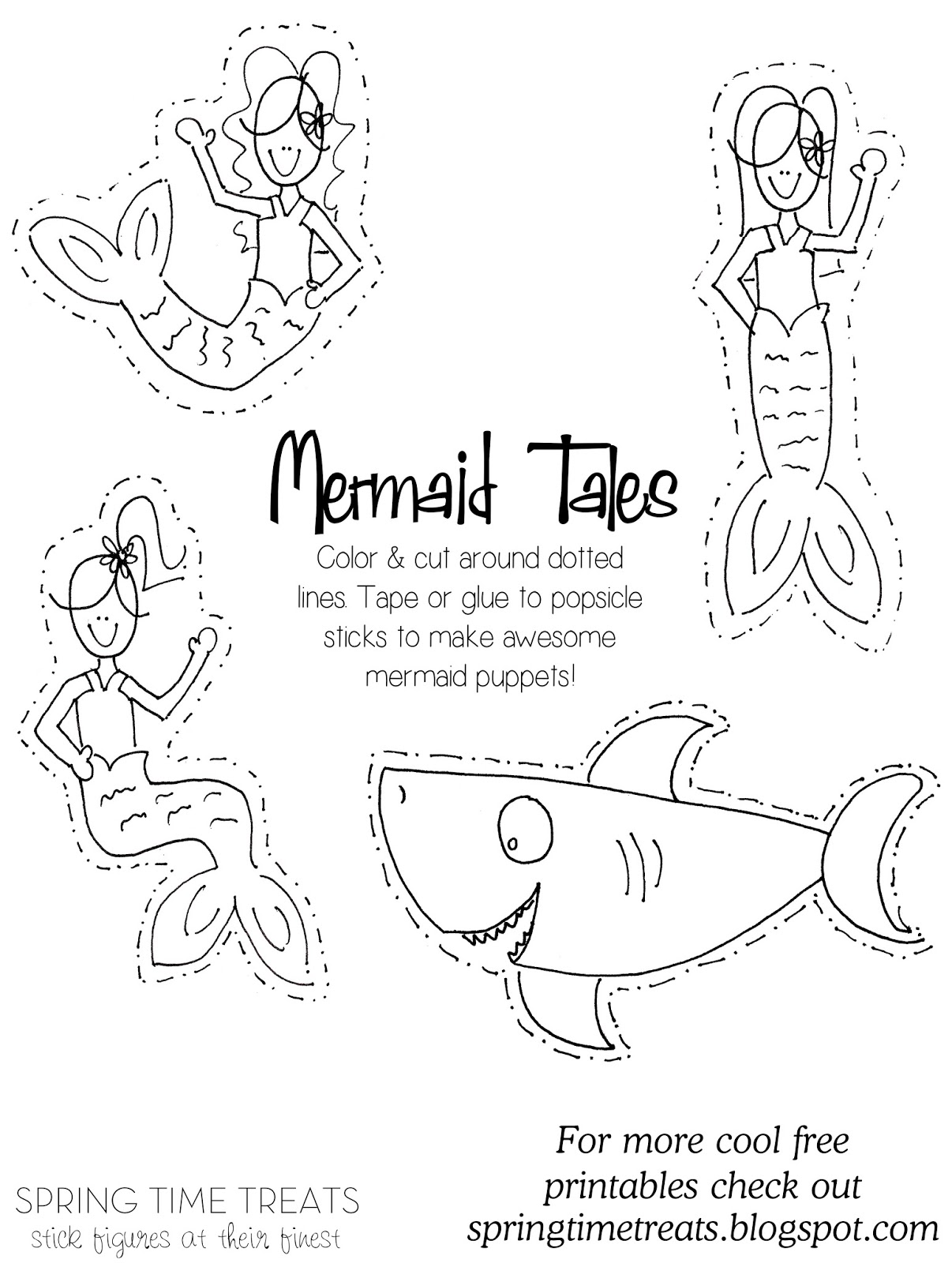 mermaid paper doll coloring pages sealilly pirate mermaid puppet wwwpheemcfaddellcom coloring pages doll paper mermaid