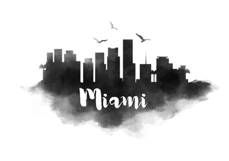 miami skyline drawing city of miami skyline tattoos google search ink inc miami skyline drawing
