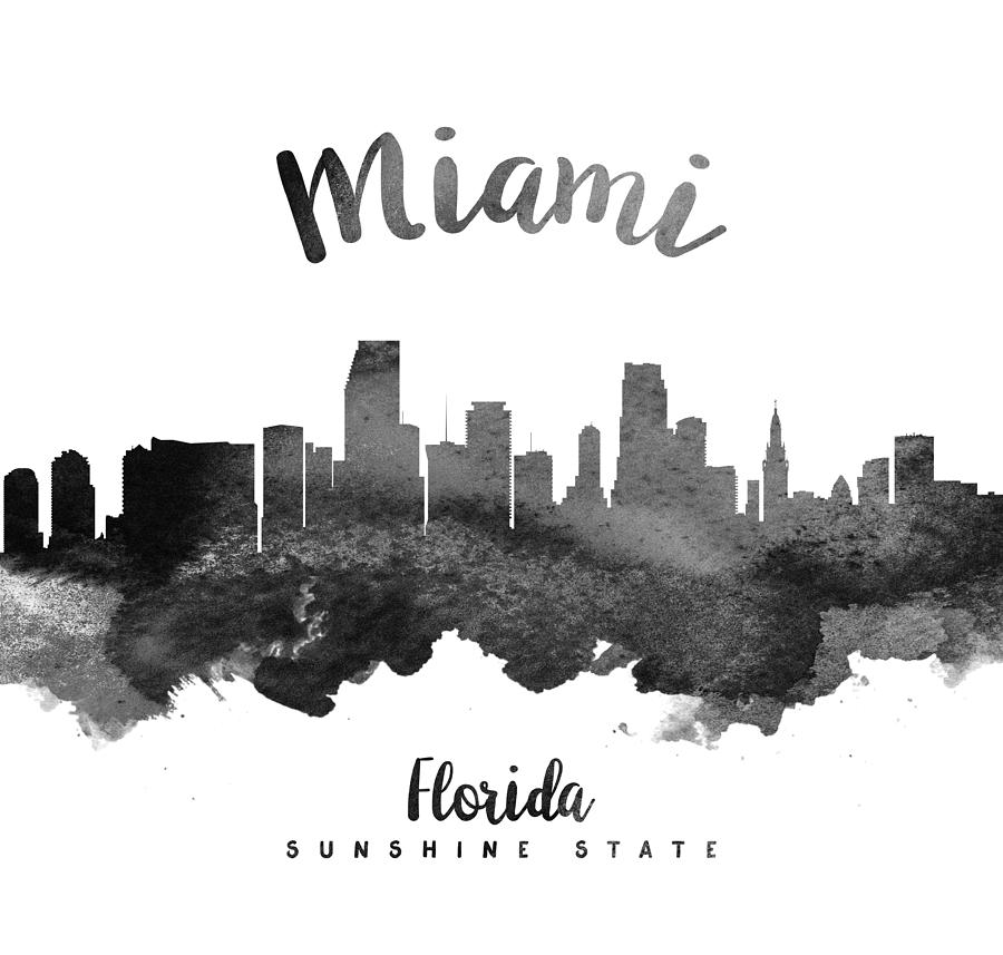 miami skyline drawing miami florida skyline digital art by michael tompsett miami drawing skyline