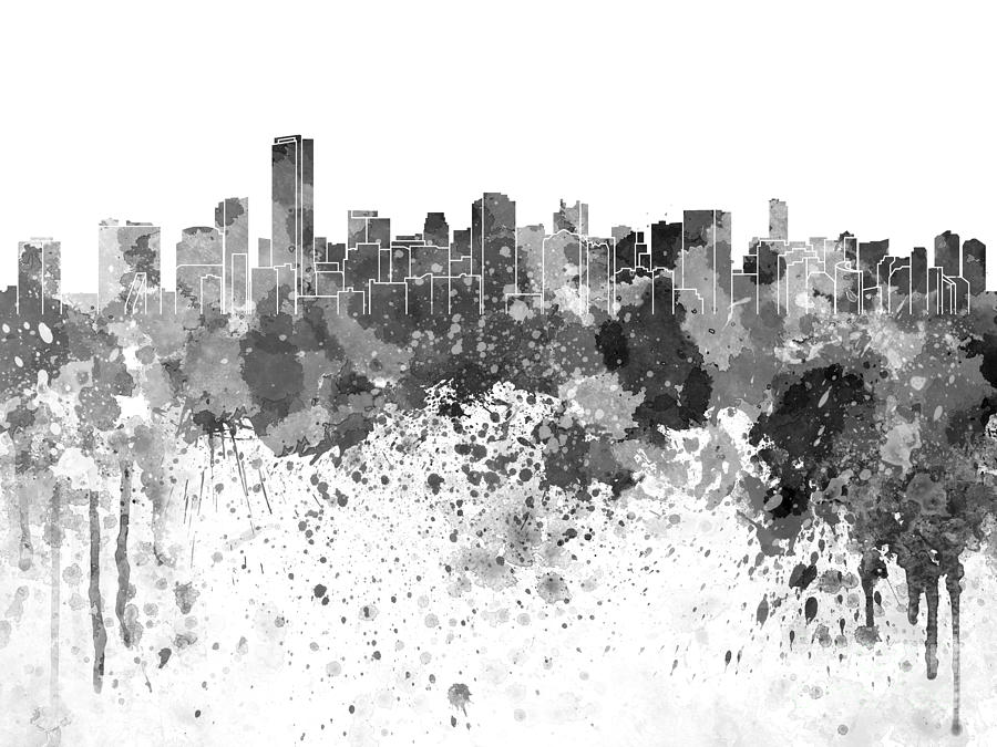 miami skyline drawing miami florida skyline in black ink sticker zazzlecom drawing miami skyline