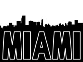 miami skyline drawing miami skyline silhouette vector at vectorifiedcom drawing skyline miami