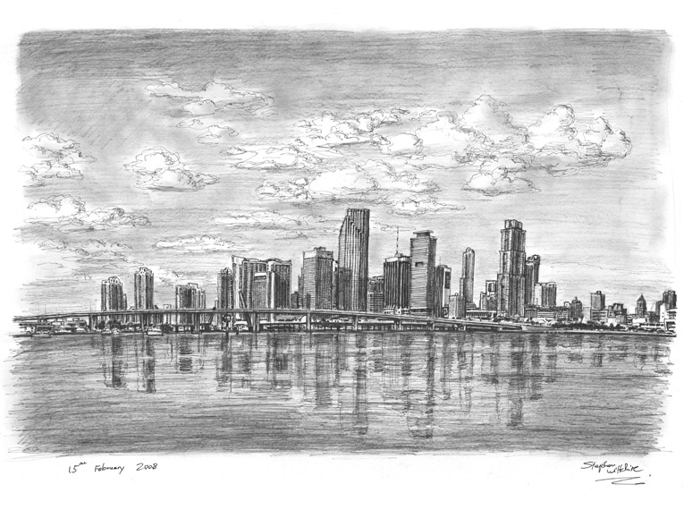 miami skyline drawing royalty free miami skyline clip art vector images miami skyline drawing