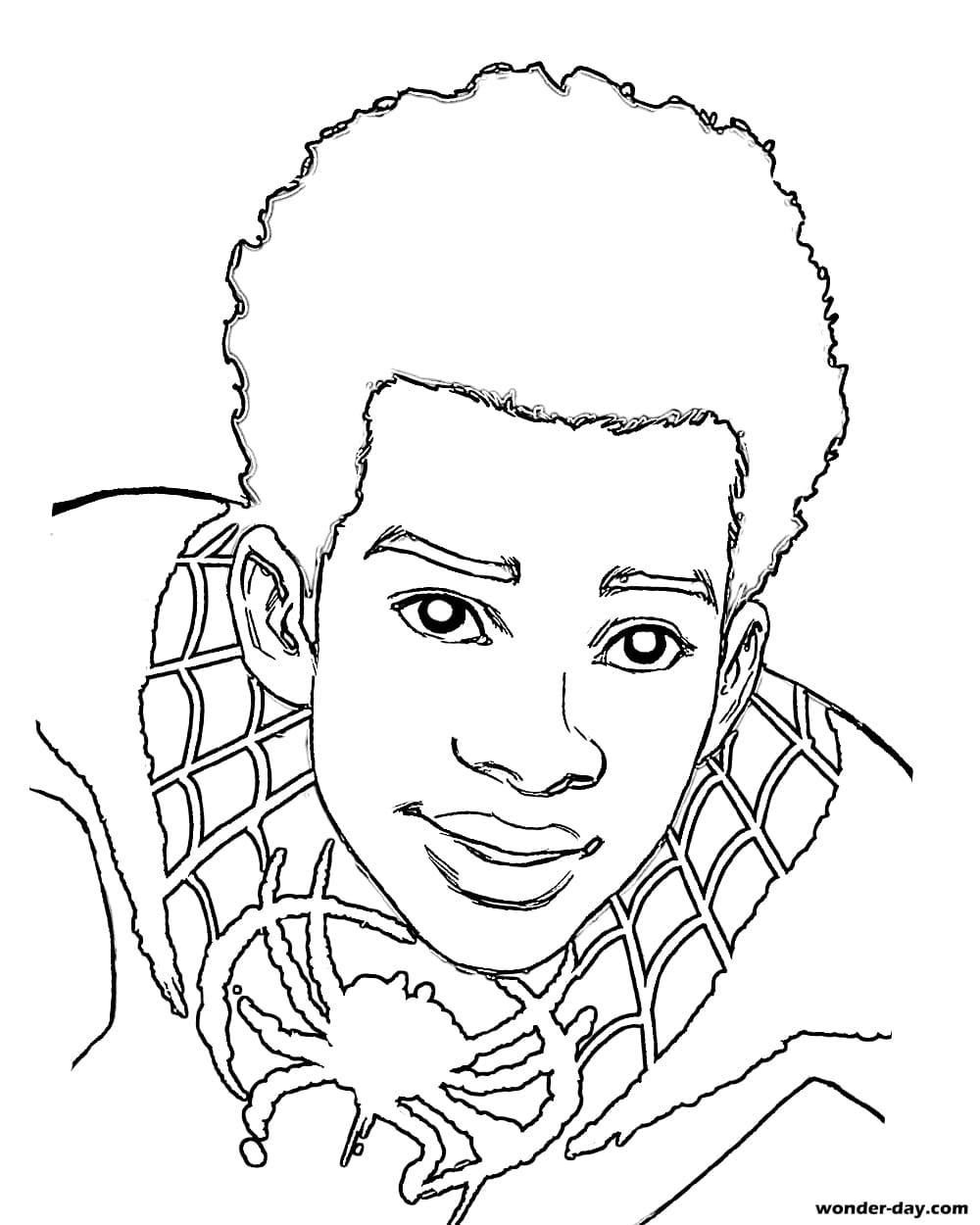 miles morales spiderman coloring page miles morales coloring pages collection whitesbelfast coloring morales page spiderman miles