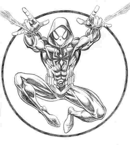 miles morales spiderman coloring page spider gwen spider man into the spider verse coloring coloring spiderman miles page morales