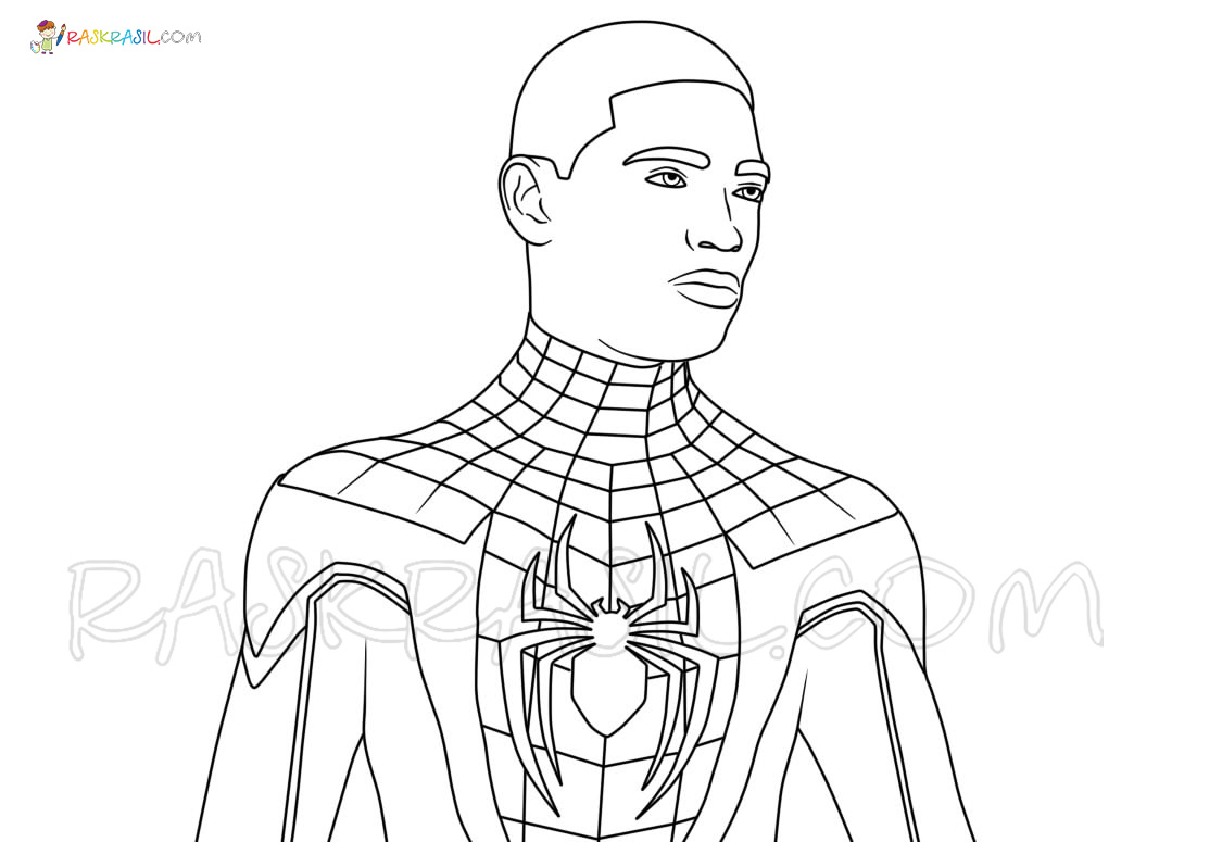 miles morales spiderman coloring page spider man noir coloring pages catmgrant miles coloring spiderman page morales