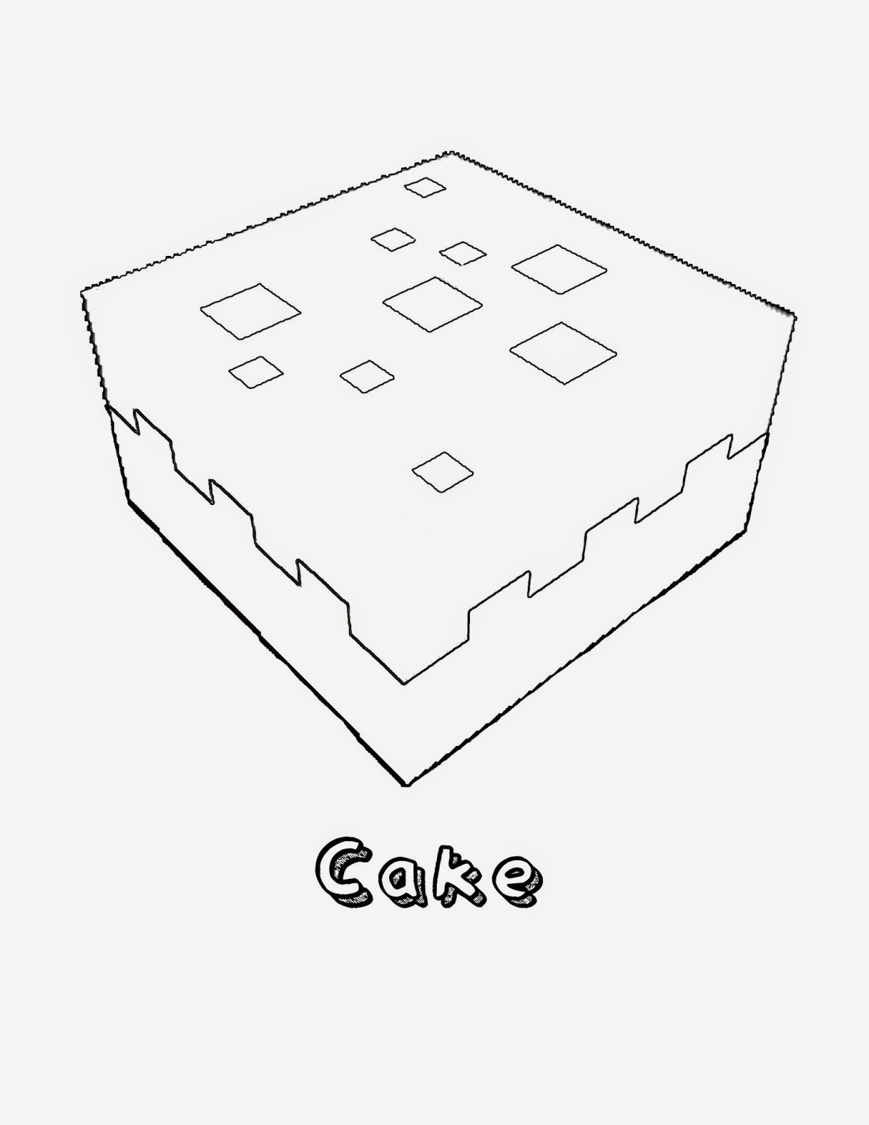 minecraft cake minecraft cake coloring pages printable coloring pages cake minecraft