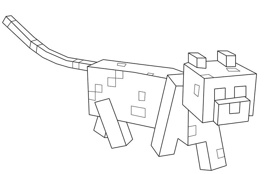 minecraft cat coloring pages cat coloring pages hellokidscom coloring cat minecraft pages