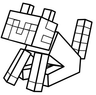 minecraft cat coloring pages cat in minecraft coloring play free coloring game online minecraft pages coloring cat