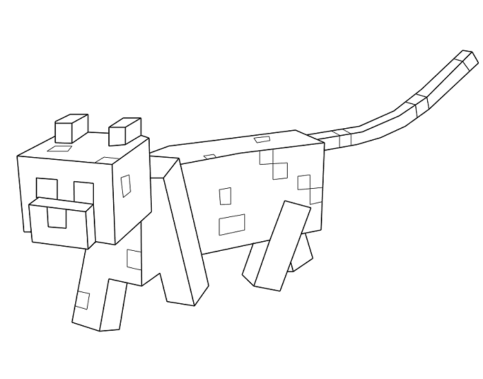 minecraft cat coloring pages minecraft cat drawing at getdrawings free download coloring cat pages minecraft