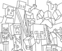 minecraft nether coloring pages minecraft coloring pages coloringpagesonlycom minecraft coloring nether pages