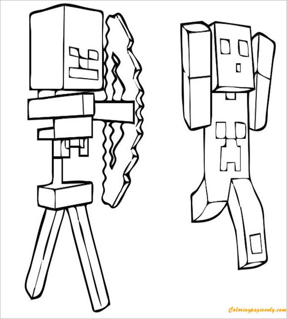 minecraft nether coloring pages minecraft coloring pages free printable minecraft pages minecraft coloring nether