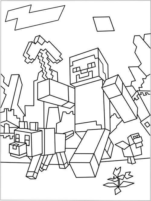 minecraft nether coloring pages popularmmos coloring pages at getcoloringscom free minecraft pages coloring nether
