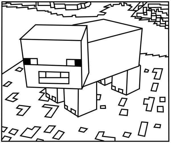 minecraft pig coloring here are the best minecraft pig and sheep coloring pages minecraft pig coloring
