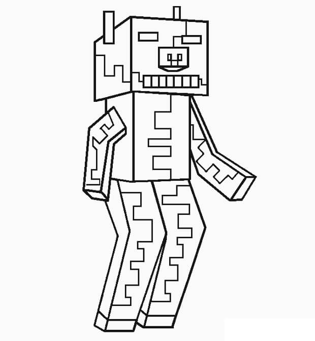 minecraft pig coloring printable minecraft pigs coloring pages monkey birthday pig coloring minecraft