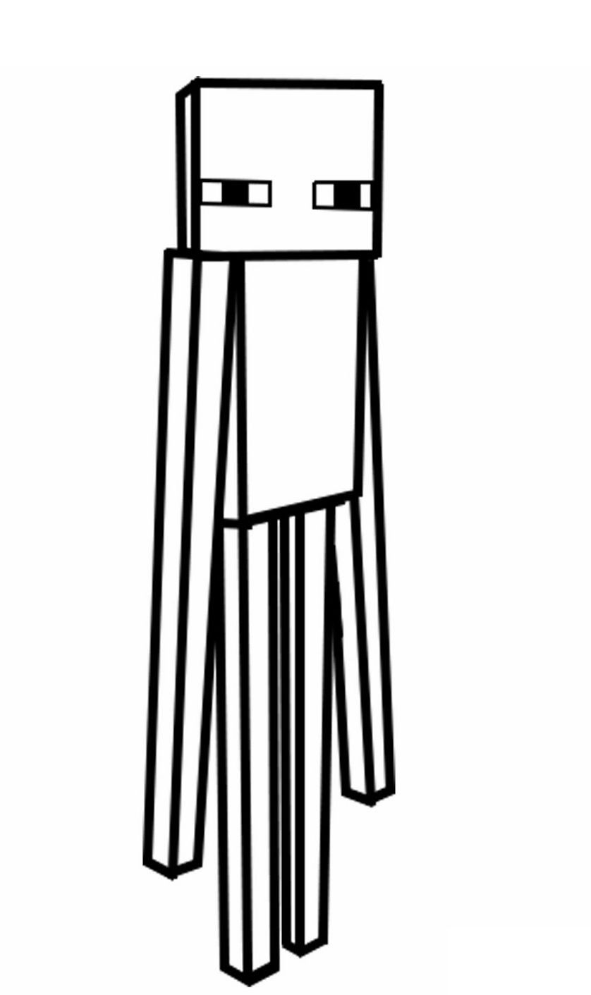 Minecraft skin coloring pages