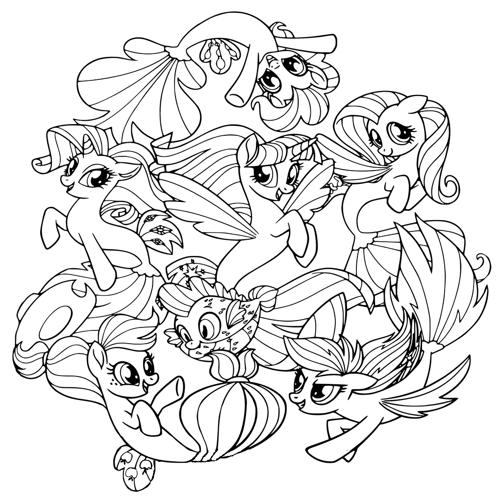 mlp coloring book my little pony coloring pages for girls print for free or book mlp coloring