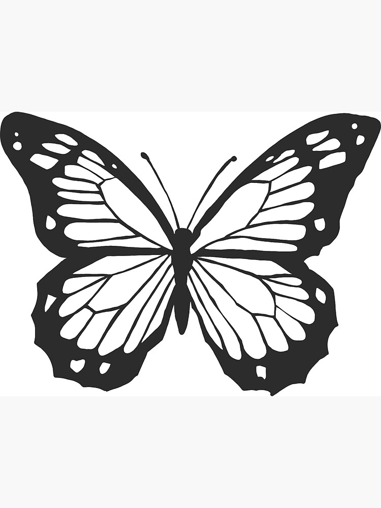 monarch butterfly outline quotblack monarch butterfly outlinequot magnet by savannahgibson butterfly monarch outline