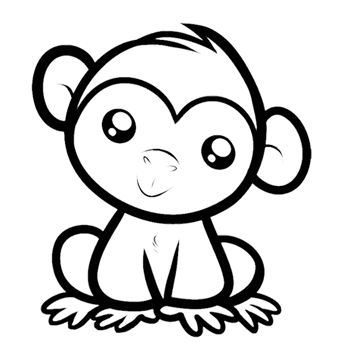 monkey pictures to color coloring now blog archive monkey coloring pages for kids monkey pictures to color