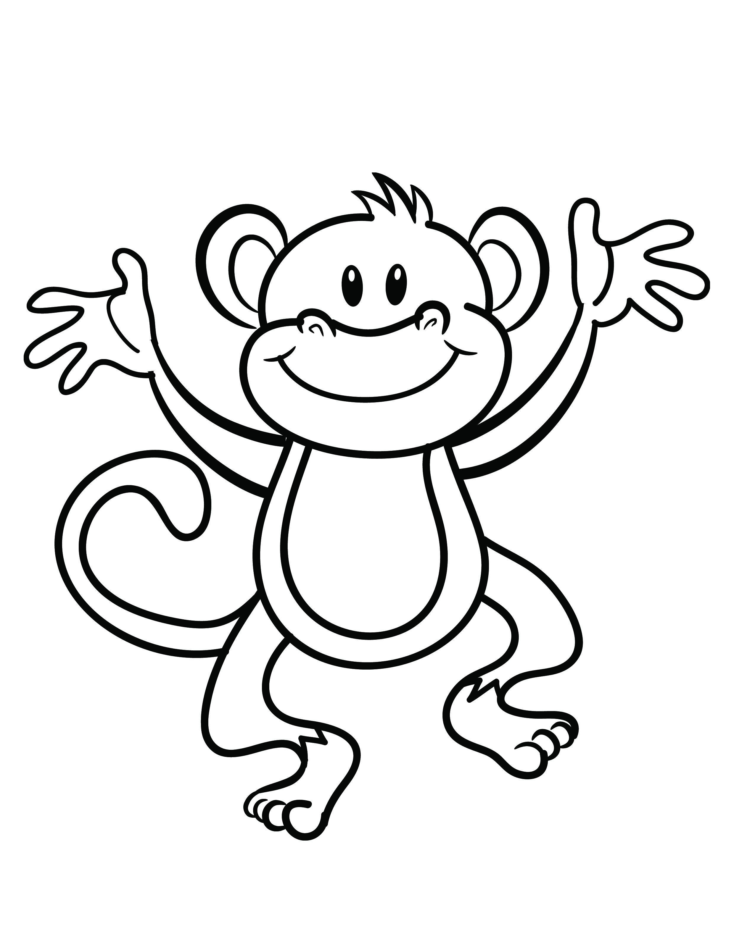 monkey pictures to color kids monkey coloring page wecoloringpagecom pictures monkey to color