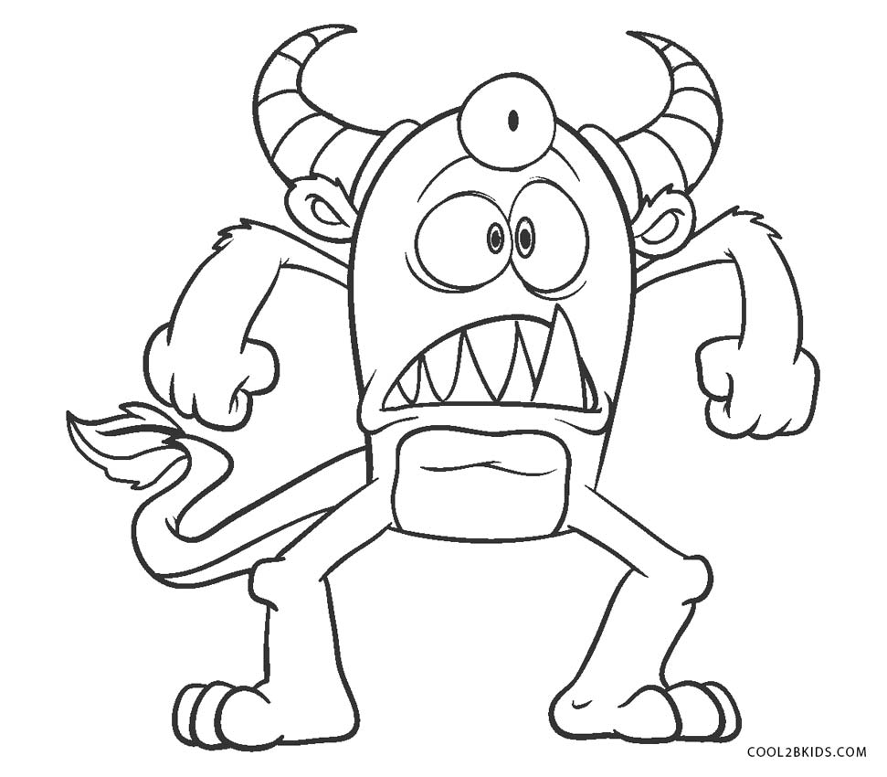 monster coloring pages printable cute monster coloring page fresh second grade color by printable coloring pages monster