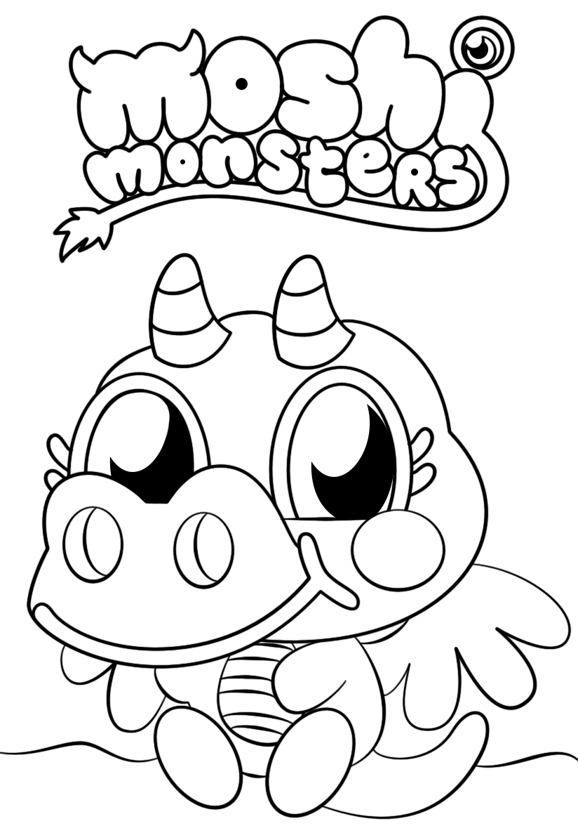 monster coloring pages printable monsters coloring page coloring home monster coloring pages printable
