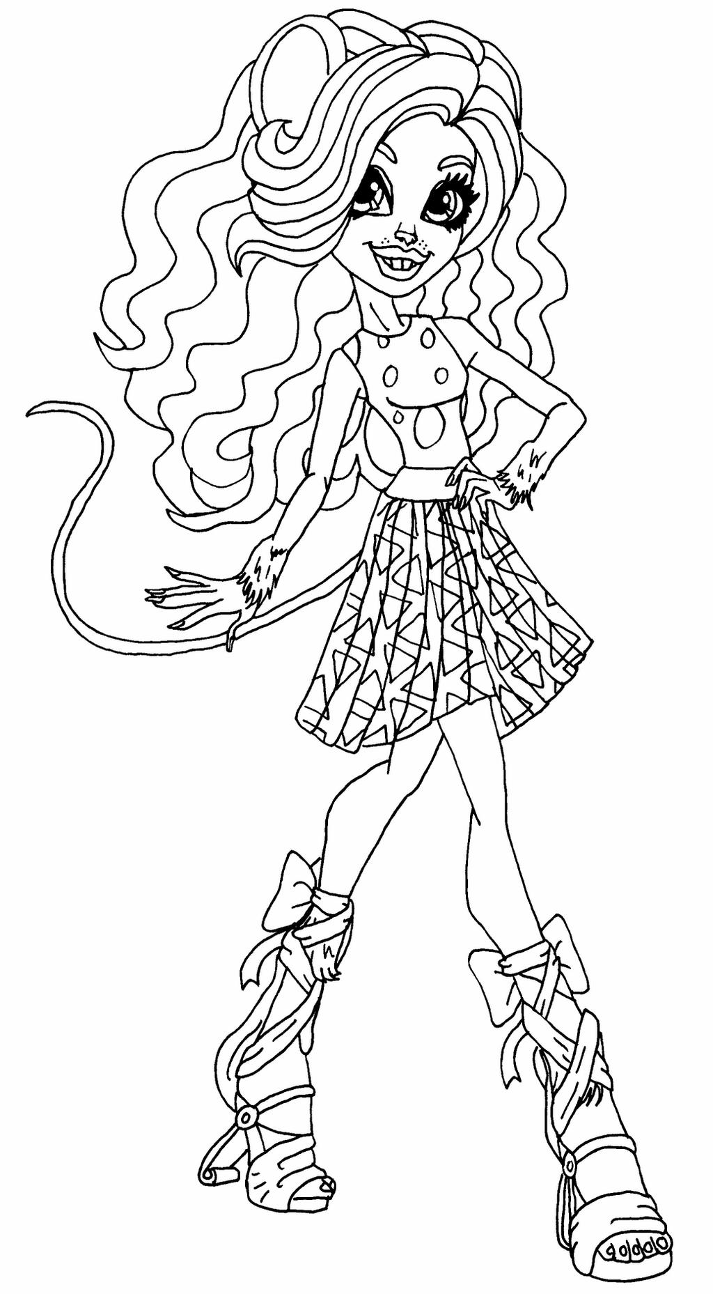 monster high pets coloring pages monster high coloring pages by elfkena on deviantart pets high pages monster coloring
