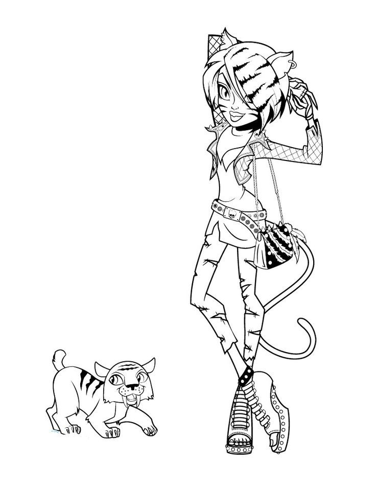 monster high pets coloring pages operetta with her pet coloring pages hellokidscom coloring pages pets high monster